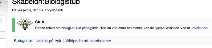 Biologistub på dansk Wikipedia