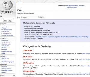 Düreforsög - Wikipedia - Citér
