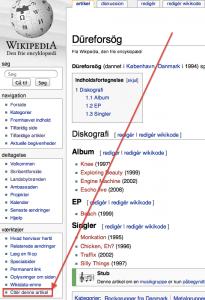 Düreforsög - Wikipedia - Citér denne artikel