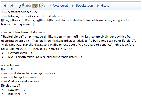 Haplodiploide - dansk Wikipedia - wikikode - første udkast