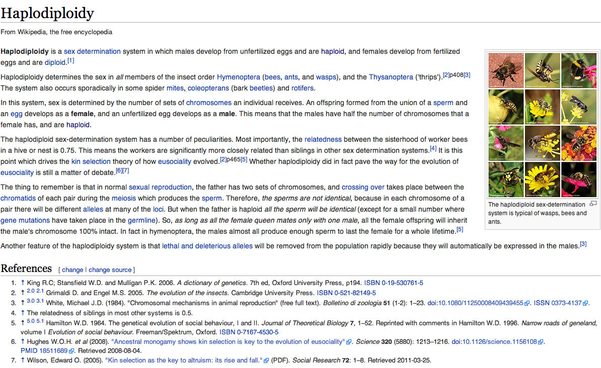 Haplodiploidy - Forenklet engelsk Wikipedia