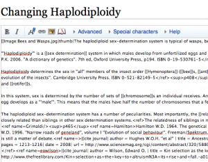 Haplodiploidy - Forenklet engelsk Wikipedia - wikikode