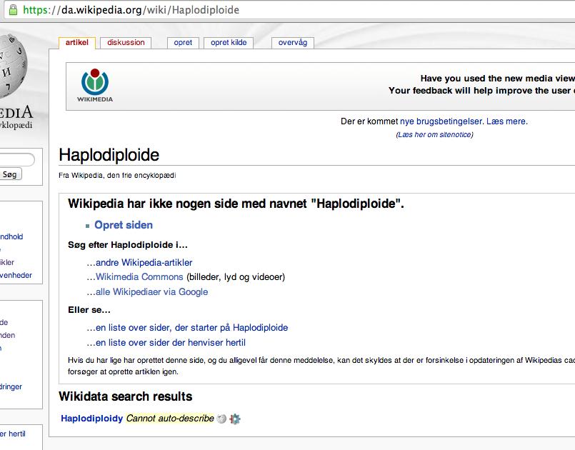 Opret side på dansk Wikipedia - trin 1