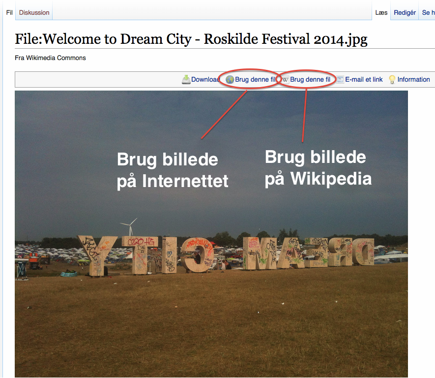 Wikimedia Commons - Billedside for Welcome to Dream City
